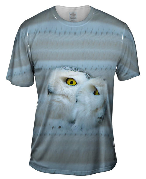 Snow Owls Mens T-Shirt