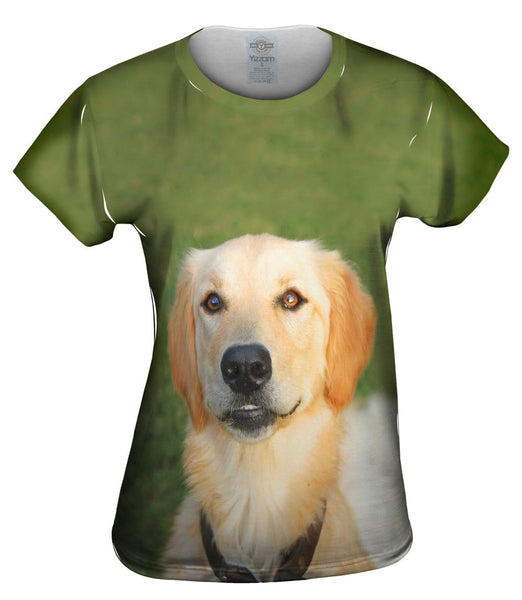 Golden Lab Smiling Womens Top