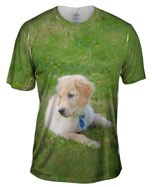 Golden Lab Puppy Relaxing Mens T-Shirt