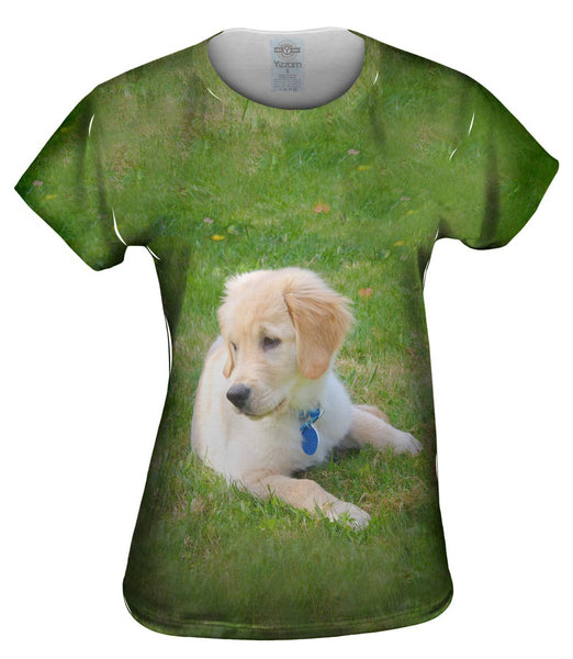 Golden Lab Puppy Relaxing Womens Top