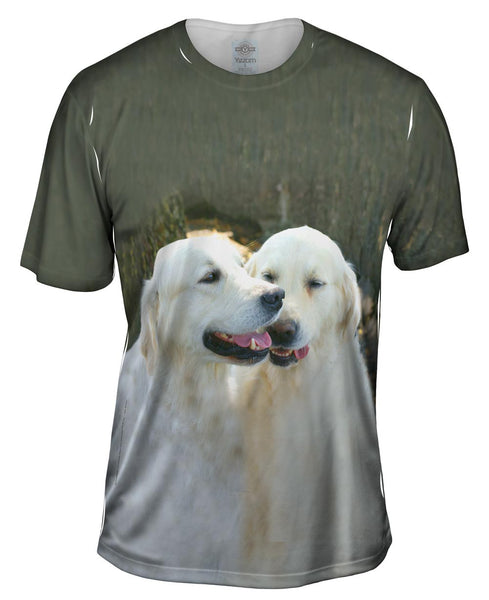 Golden Lab Twins Mens T-Shirt