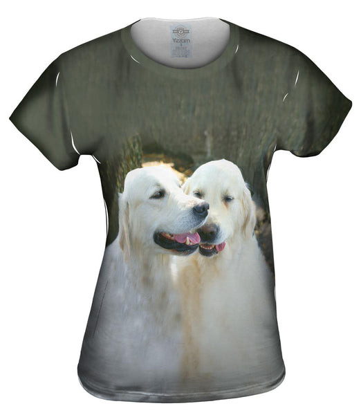 Golden Lab Twins Womens Top