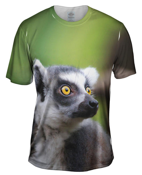 Full Attentention Grey Lemur Mens T-Shirt