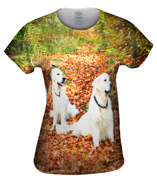 White Labs Among Leaves Womens Top