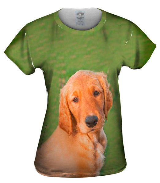 Sunny Golden Lab Womens Top