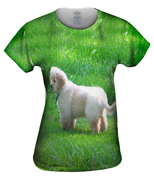 Furry Ball Golden Lab Womens Top