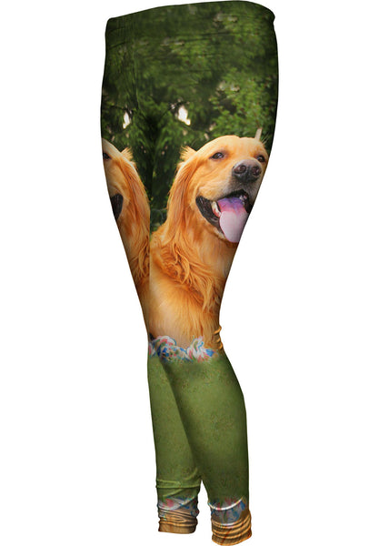 Golden Lab With Rope Toy Womens Leggings