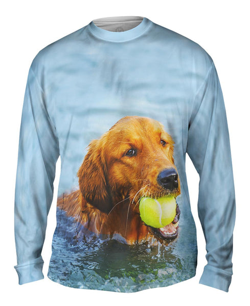 Golden Lab Waterplay Mens Long Sleeve