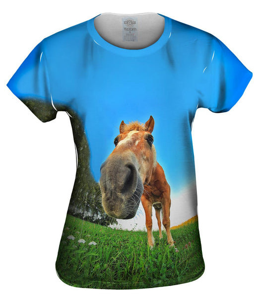 Funny Horse Snout Womens Top