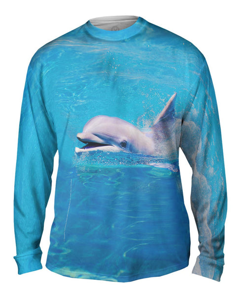 Happy Dolphin Mens Long Sleeve
