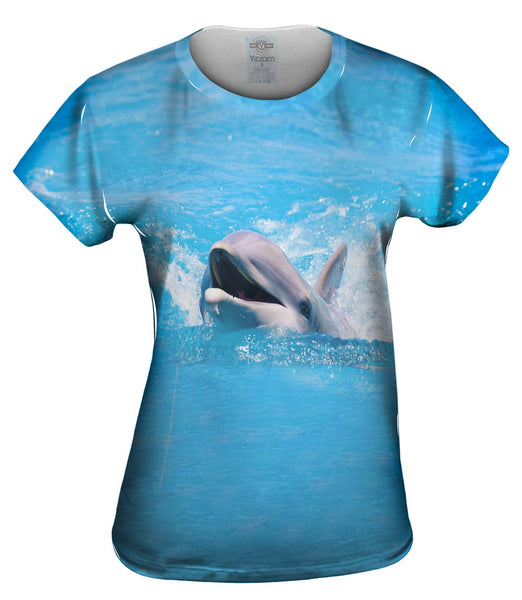 Swimming Dolphin Womens Top