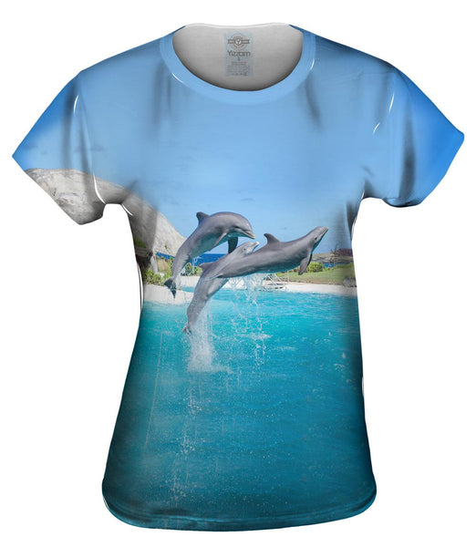 Jumping Dolphin Womens Top