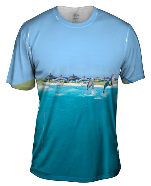 Flipping Dolphin Mens T-Shirt