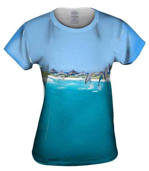 Flipping Dolphin Womens Top