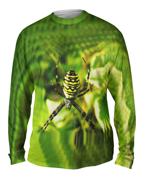 Wasp Spider At Rest Mens Long Sleeve