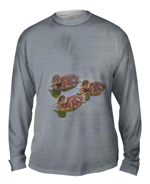 Little Ducklings Swim Mens Long Sleeve