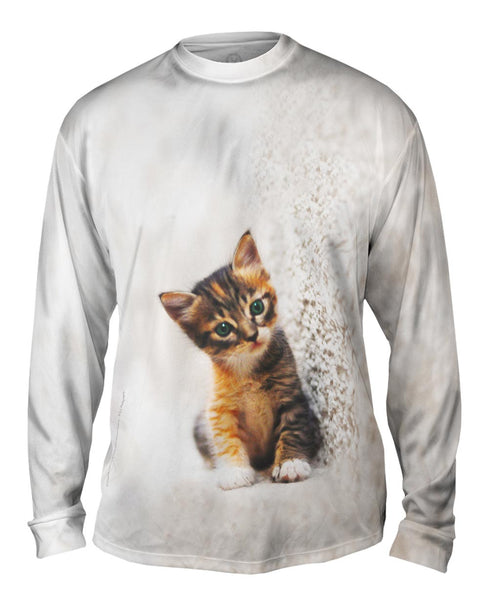 Kitty Cat Carpet Scratch Mens Long Sleeve