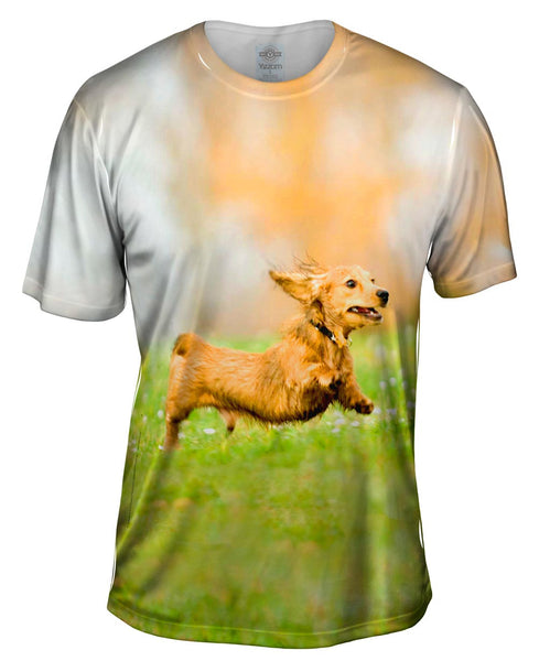 Hyper Active Dachshund Mens T-Shirt