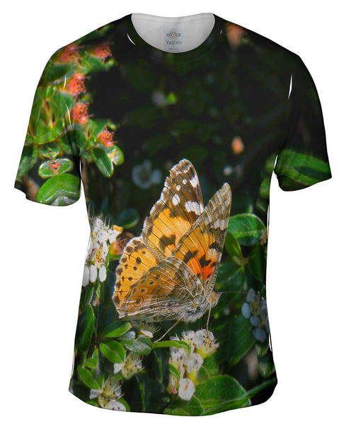Painted Butterfly Out For A Stroll Mens T-Shirt