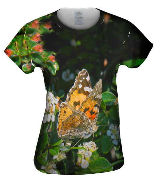 Painted Butterfly Out For A Stroll Womens Top