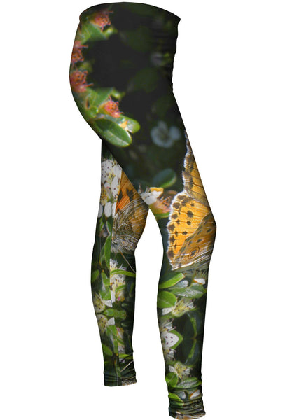 Painted Butterfly Out For A Stroll Womens Leggings