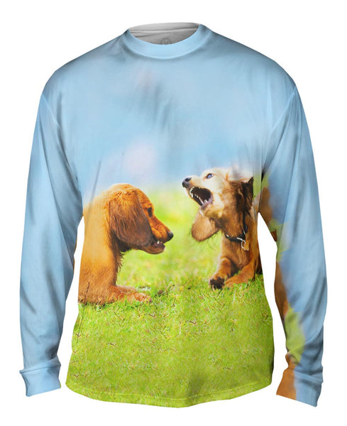 Dachschund Disagreement Mens Long Sleeve