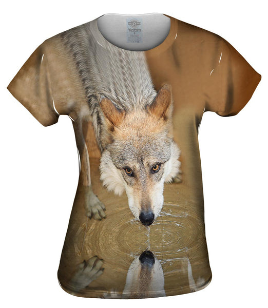 Deep Stare Wolf Womens Top