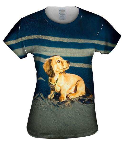 Tiny Dachshund Woof Womens Top