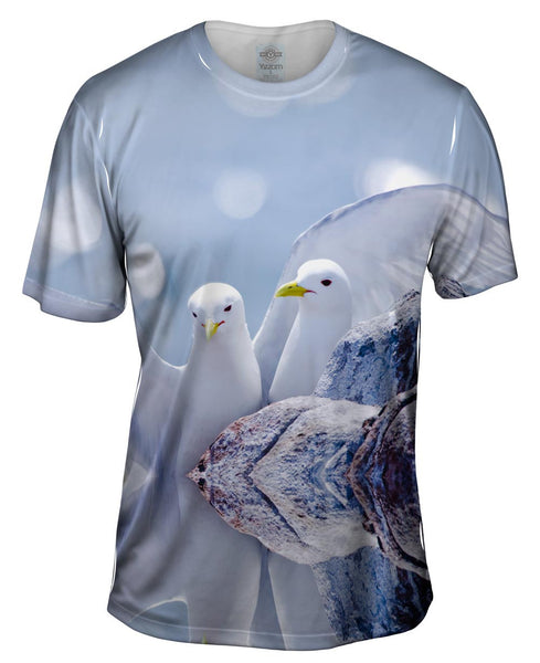Cute Dove Flurry Mens T-Shirt