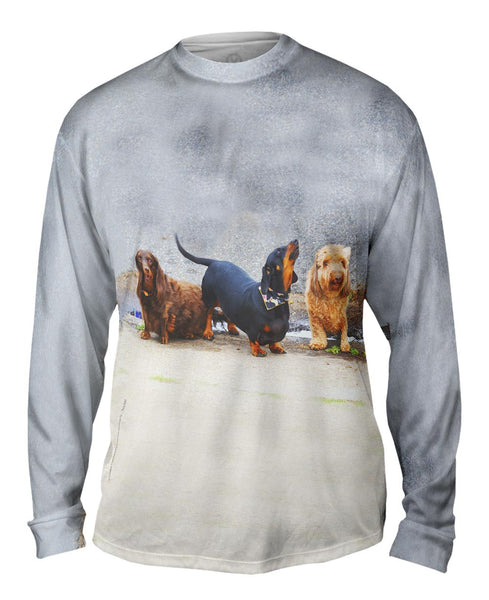 Doggy Pep Rally Mens Long Sleeve