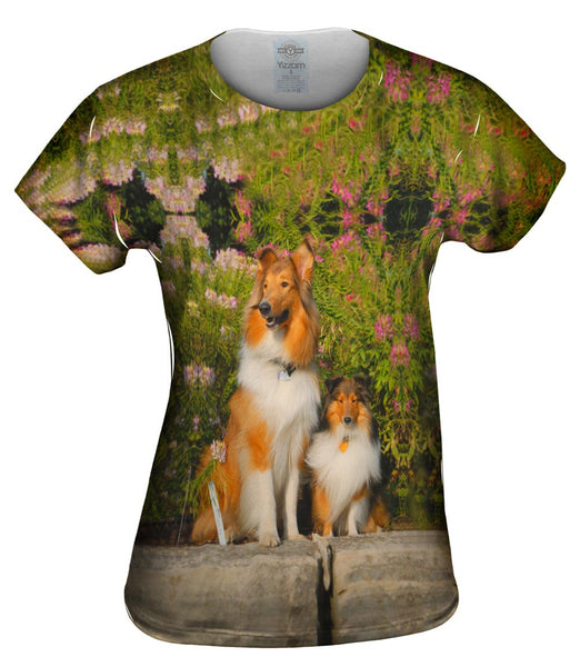 Flowerbeds Collies Womens Top