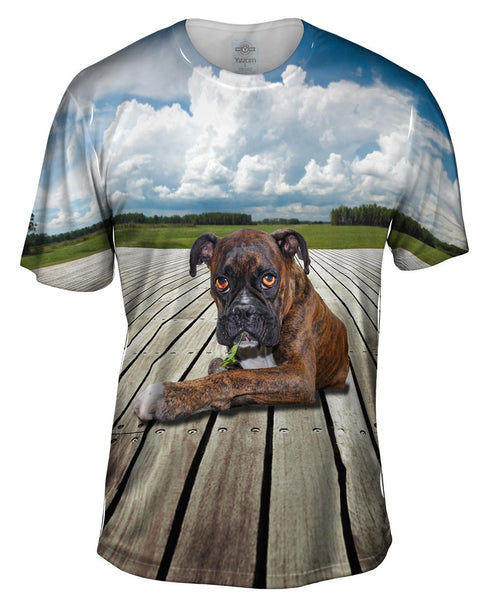 Boxer On Deck Mens T-Shirt