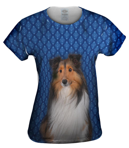 Serious Collie Womens Top