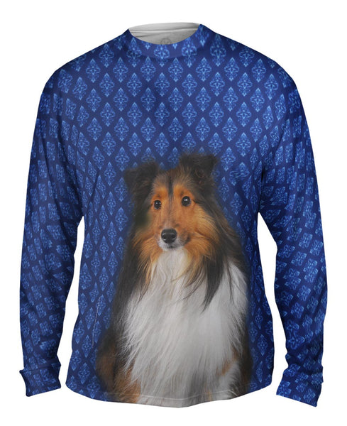 Serious Collie Mens Long Sleeve