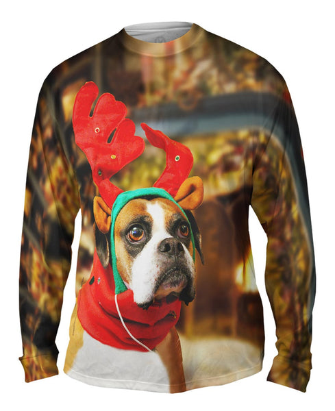 Santas Little Boxer Mens Long Sleeve