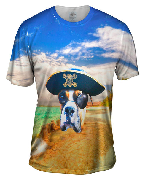 One Eyed Boxer Pirate Mens T-Shirt