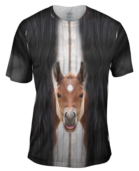 Worried Horse Mens T-Shirt