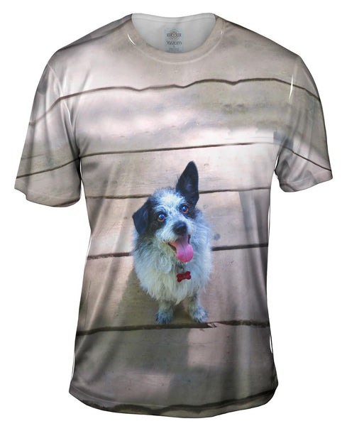 Sparkling Dog On Deck Mens T-Shirt