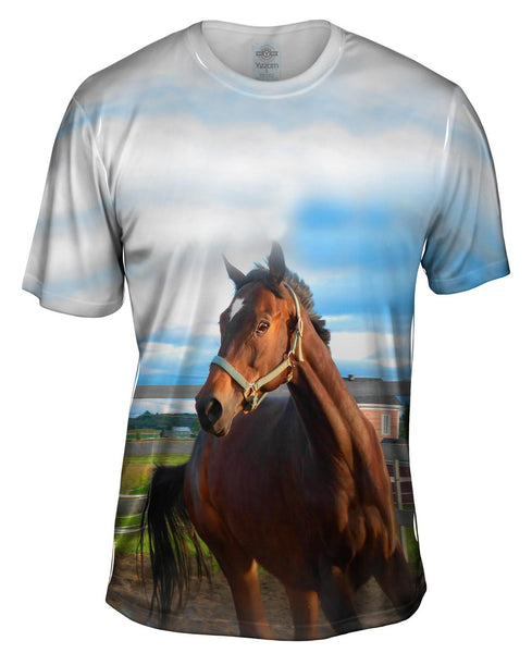 Eager Horse Mens T-Shirt