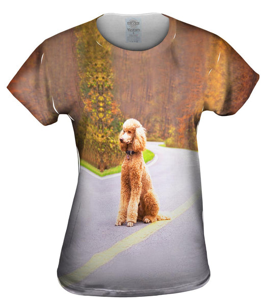 Poodle Going North Womens Top