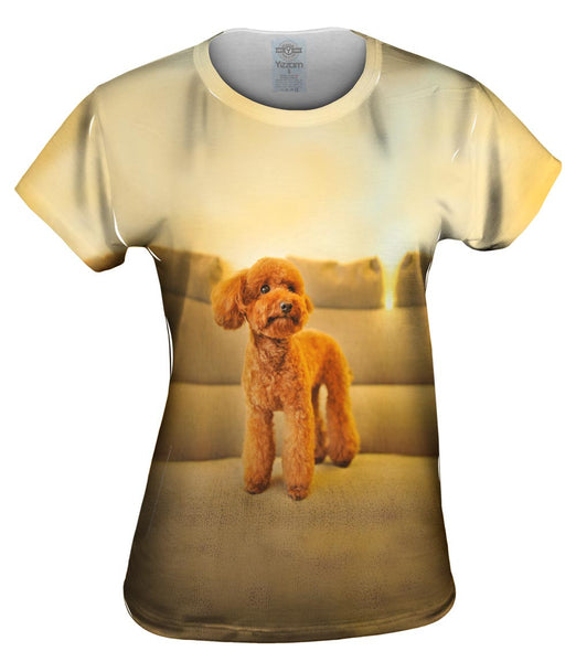 Poodle Couch King Womens Top