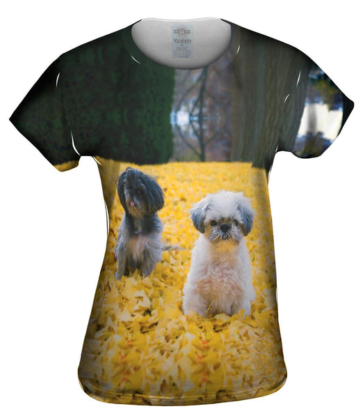 Shih Tzus In Fall Womens Top
