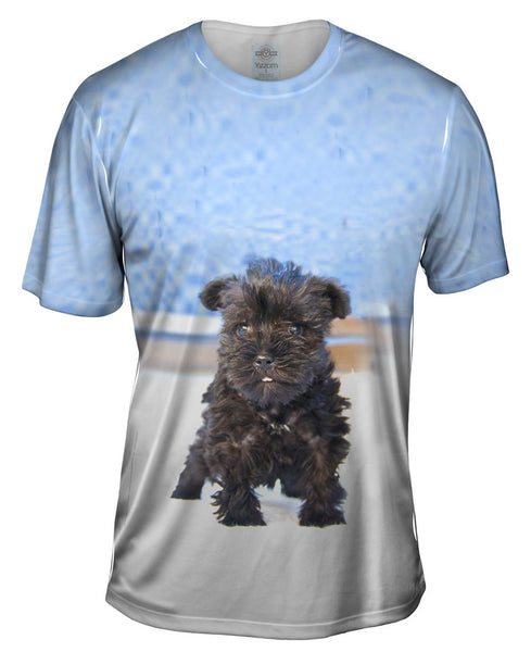 Quirky Schnauzer Poolside Mens T-Shirt