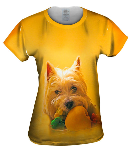 Fruitful White Terrier Womens Top