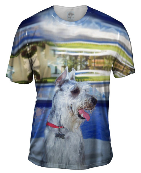 Aquatic Schnauzer Mens T-Shirt