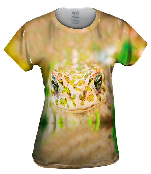 Closeup Frog Womens Top