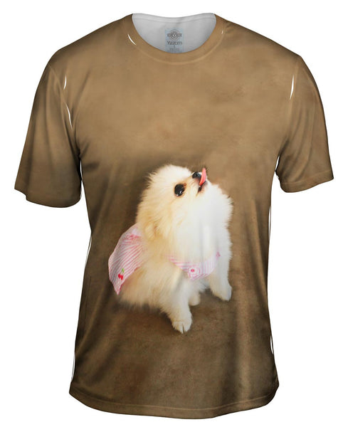 Pomeranian Cherry Cape Superhero Mens T-Shirt