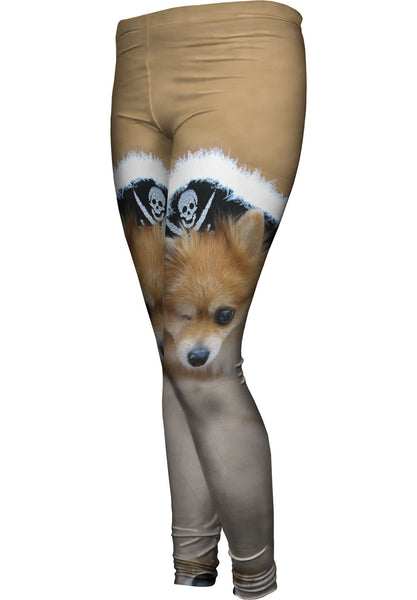 Pomeranian Pirate Womens Leggings