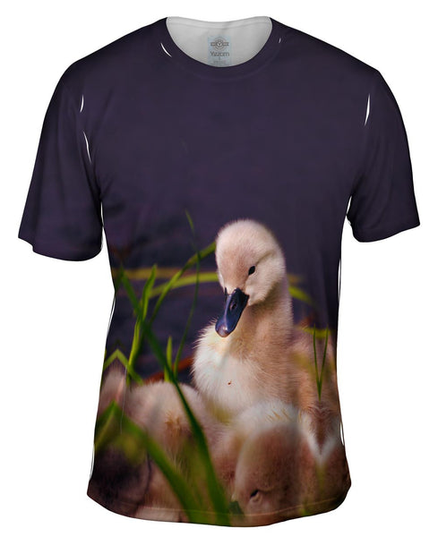 Fuzzy Little Ducky Mens T-Shirt