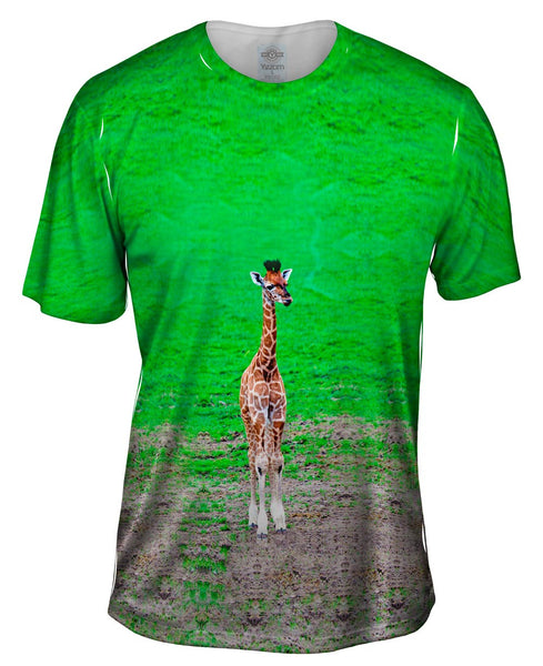 Tender Giraffe Mens T-Shirt